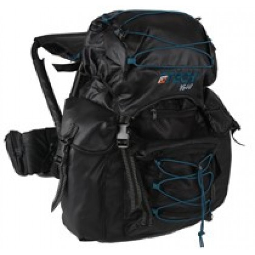 OL Tech chair backpack with chair 40 l black petrol
