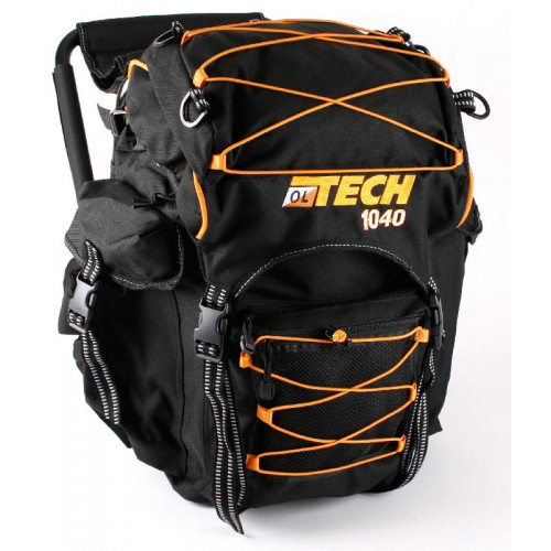 OL tech chair rucksack black orange