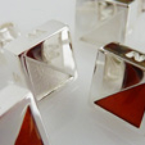 pair of orienteering small earrings with colour